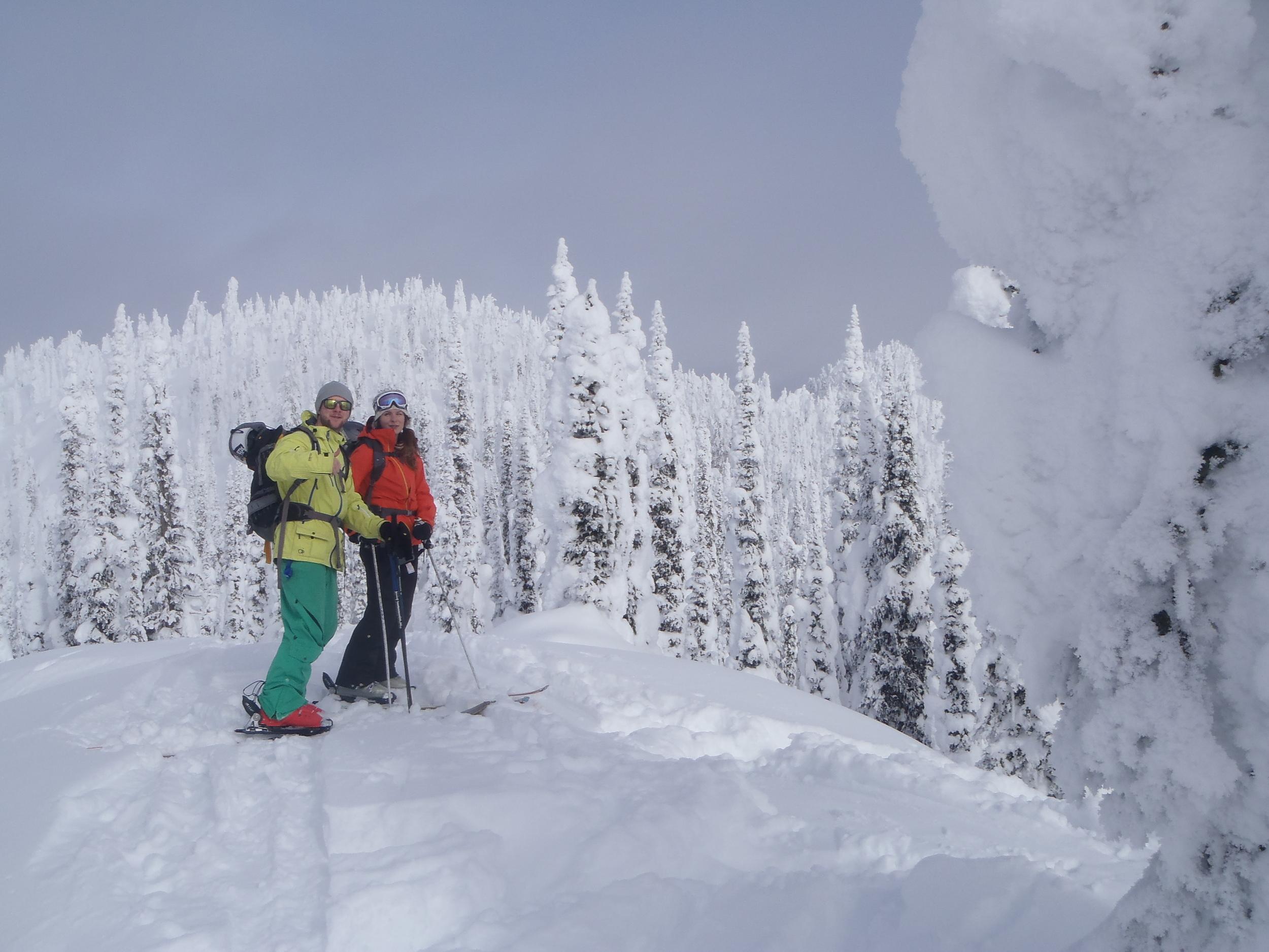 Epic tree skiing in BC on a Canada ski safari.