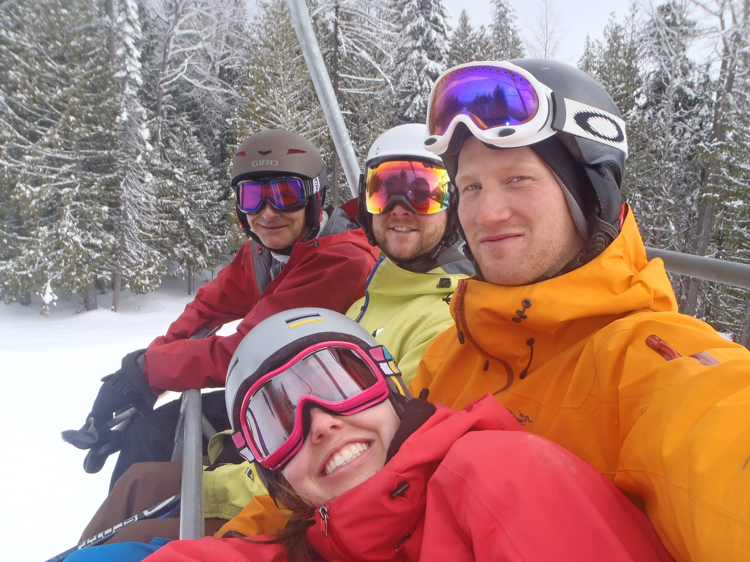 Friends and powder safaris on a ski tour in BC.