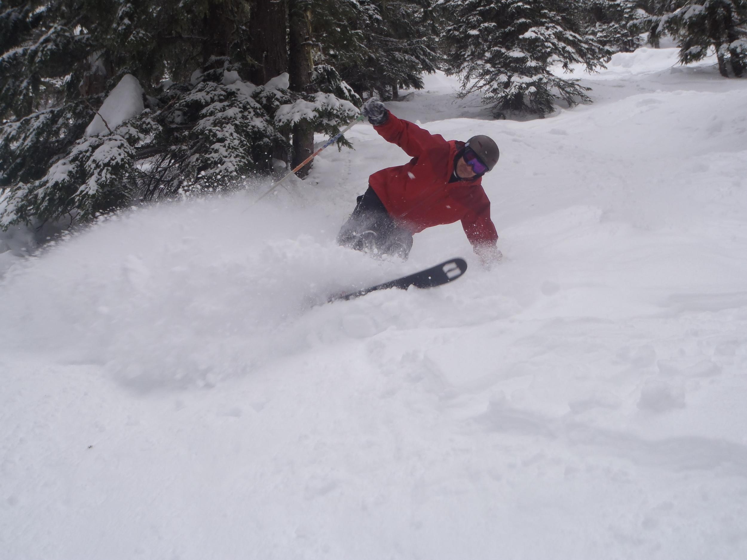 Ski powder on a BC ski safari in Canada.