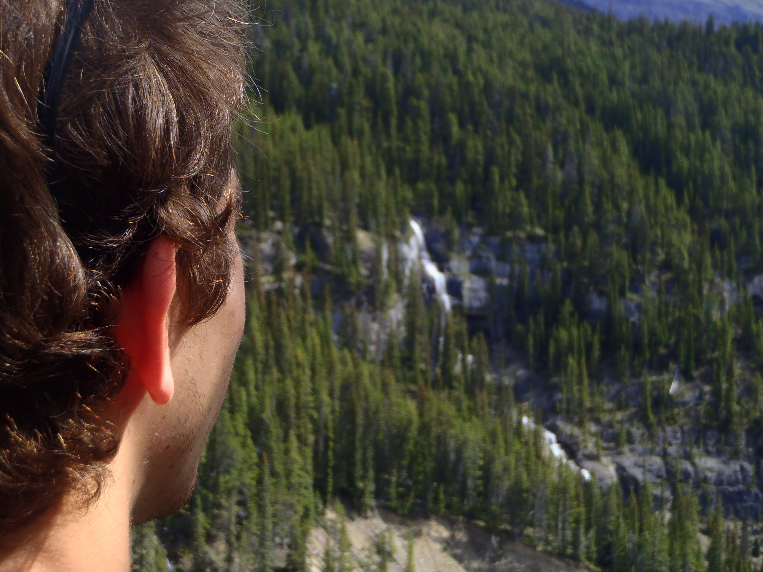 Rocky mountain adventure with waterfalls