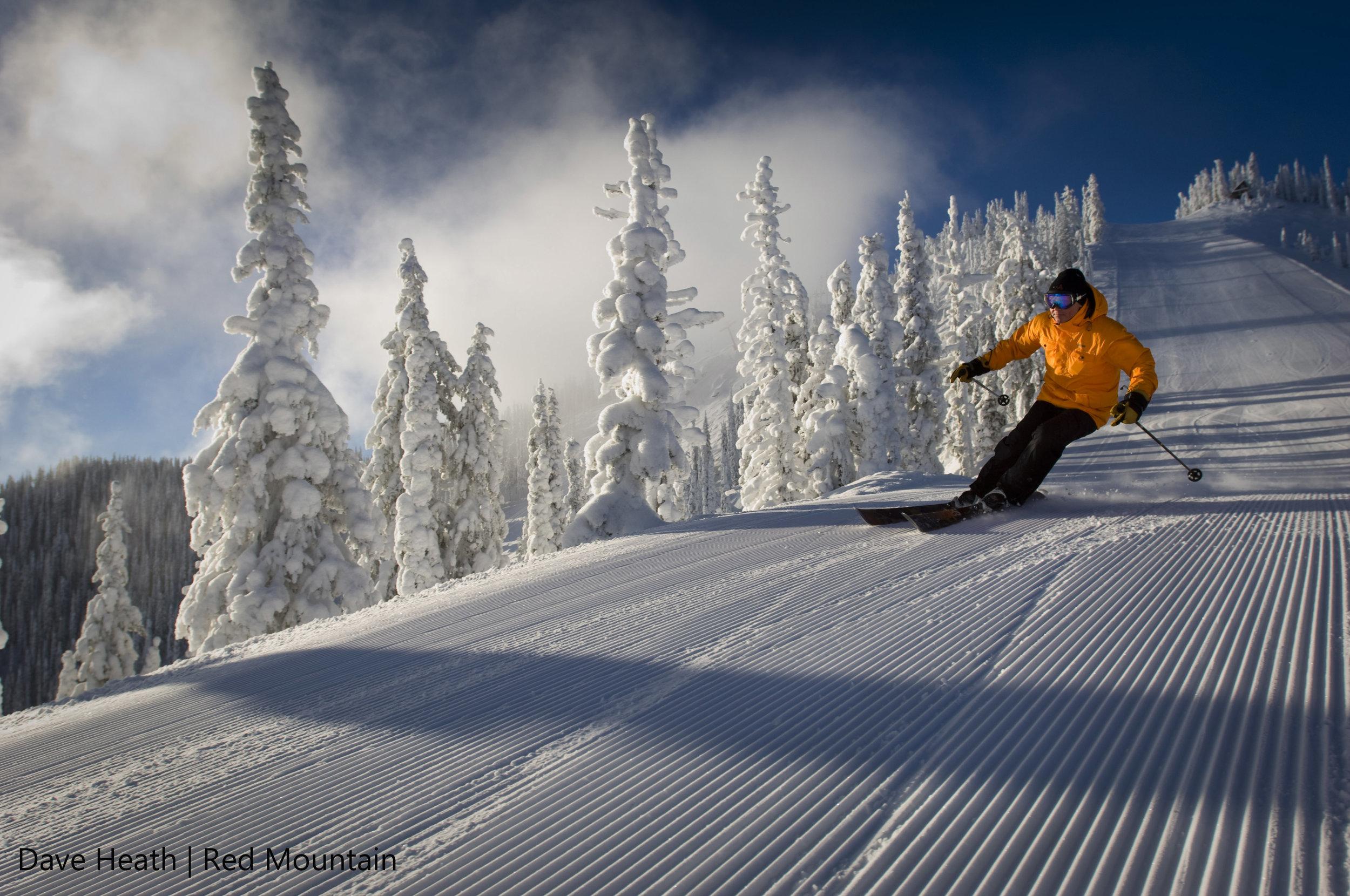 Ski tour at Red Mountain.
