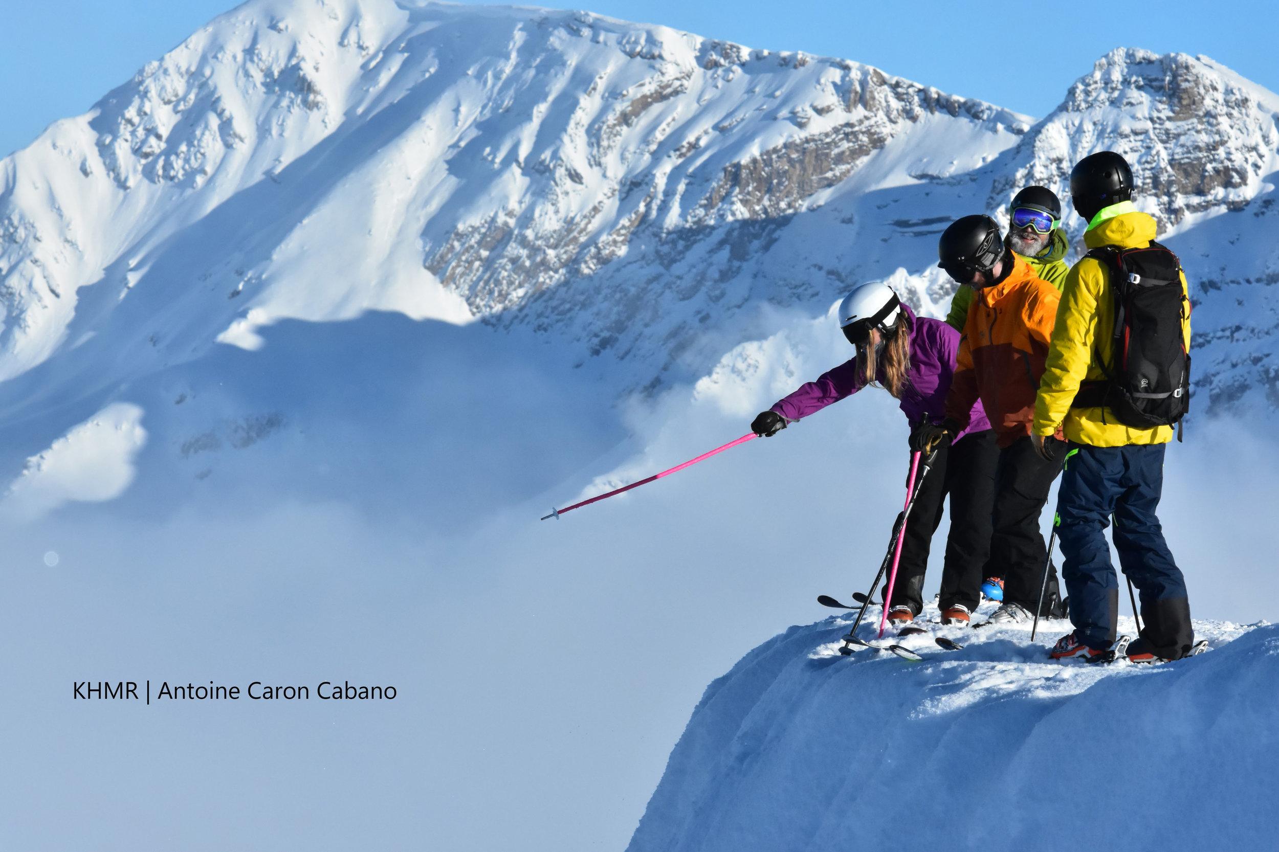 Powder Highway ski safari at Kicking Horse Mountain Resort.