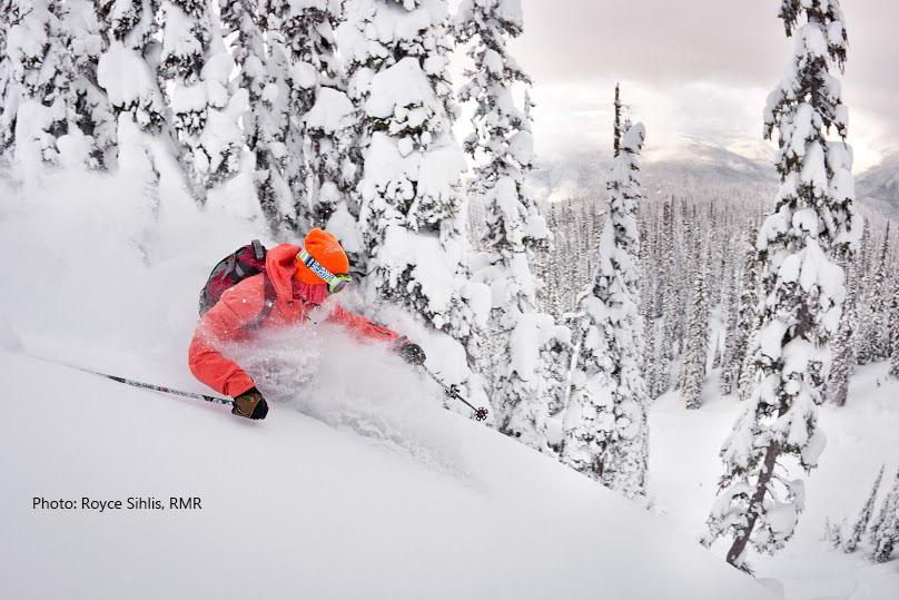 Canada ski vacations with powder.
