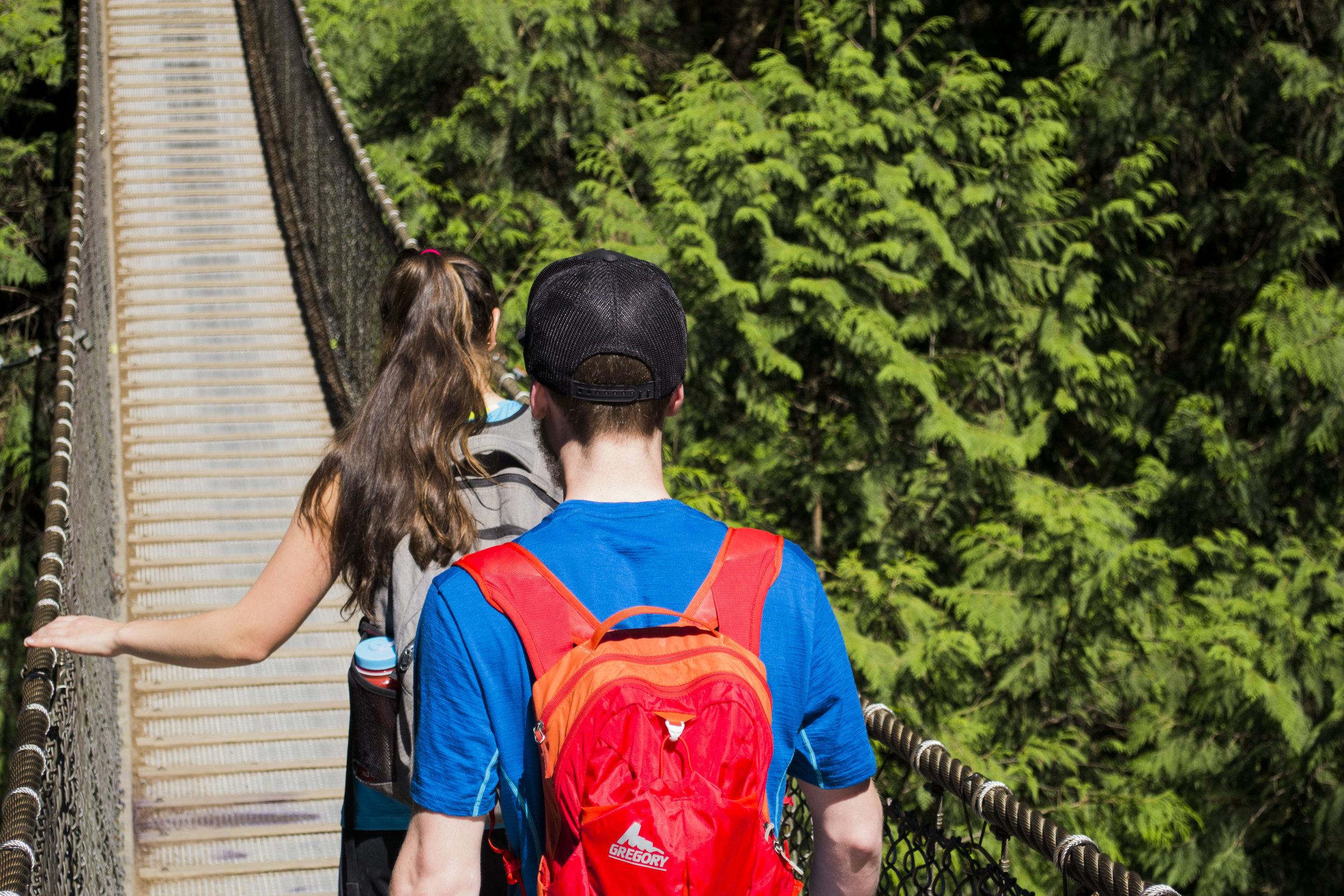 Vancouver bike tour at Lynn Canyon