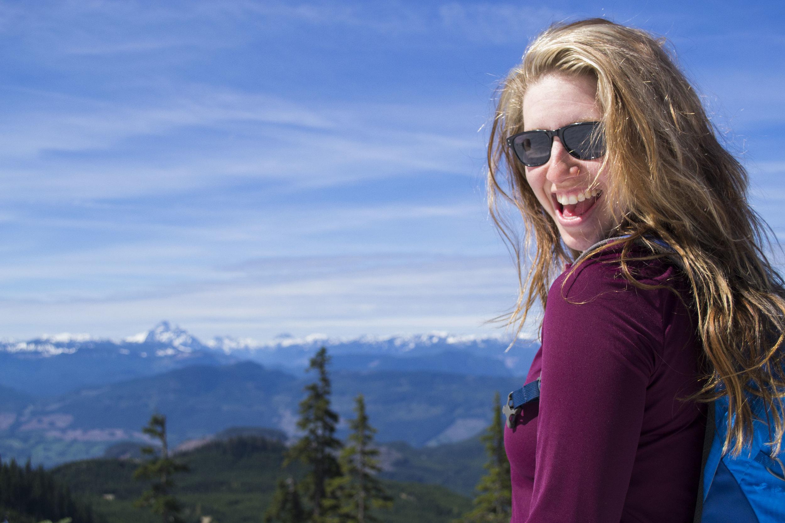 Girl on a Vancouver bike tour