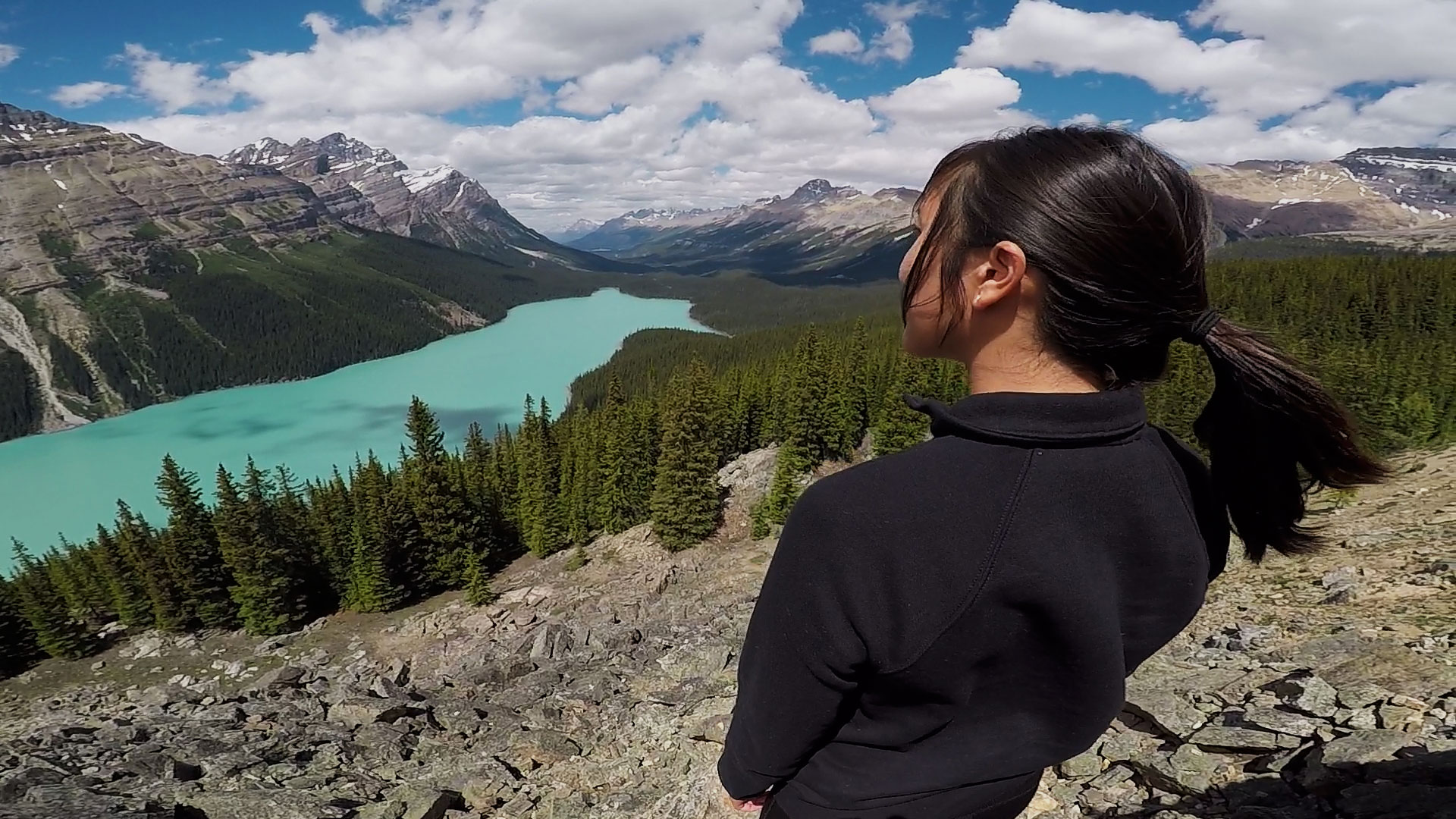 Peyto Lake during a guided expedition.