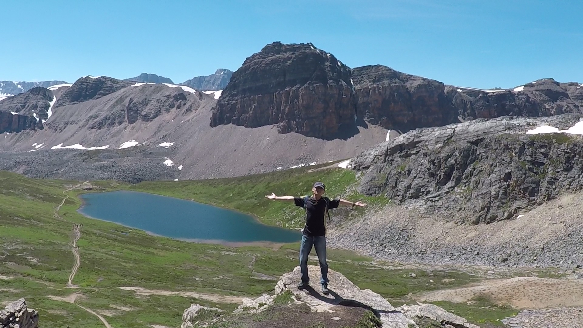 Guided hiking adventure in the Rockies in Canada.