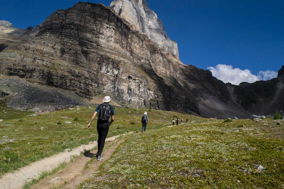 Active walking tour of the Canadian Rockies.