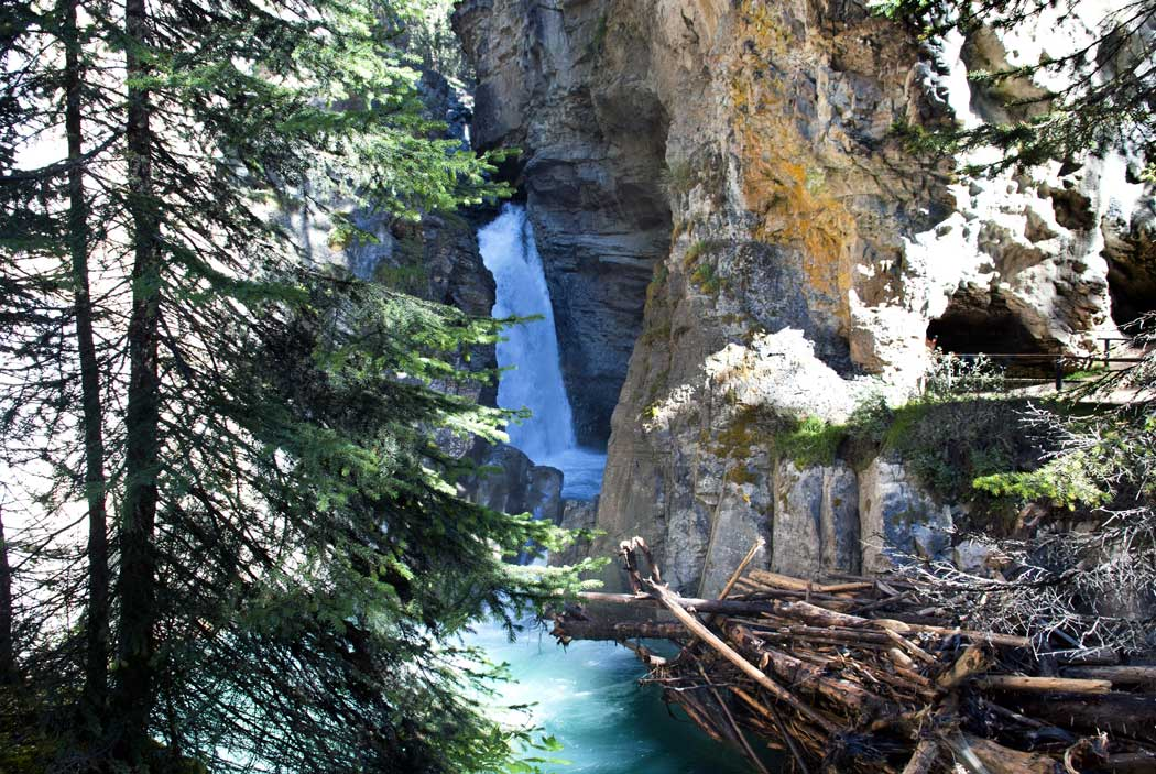 Johnston Canyon during a tour of the Rockies.