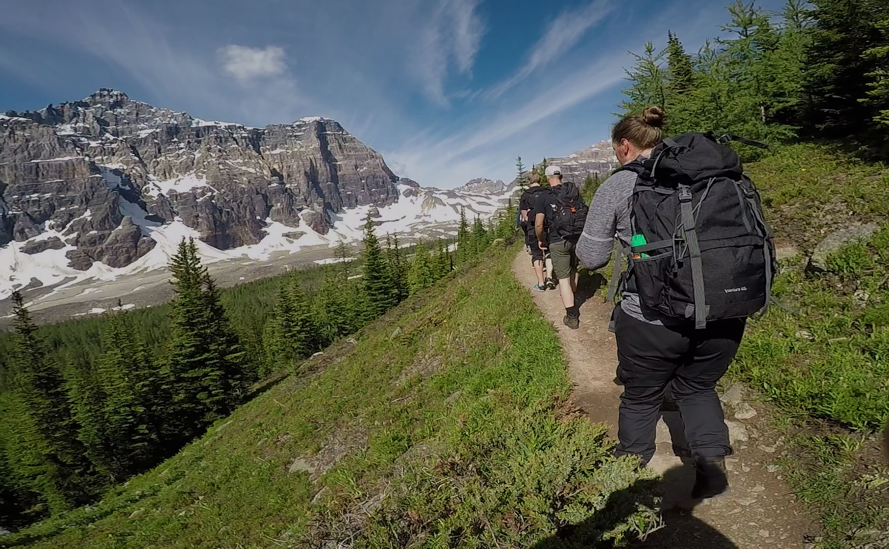 Guided hiking tour near Banff and Lake Louise.