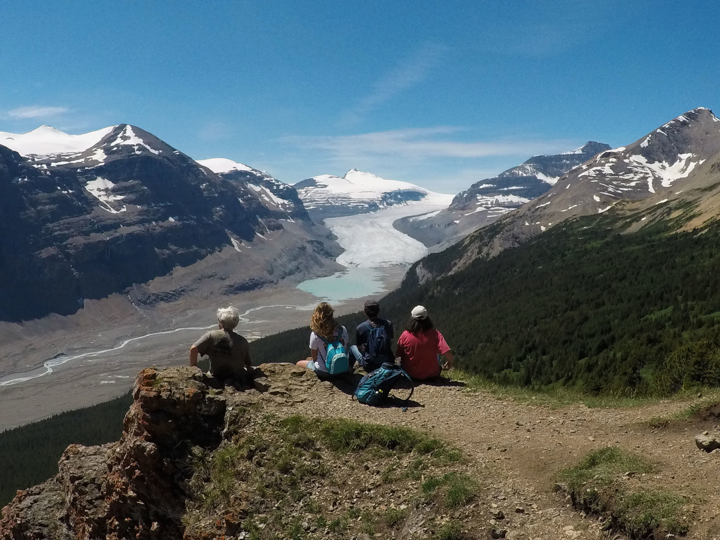 Picnic on guided adventure tour in the Rockies.