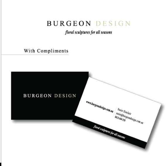 Burgeon Design stationery