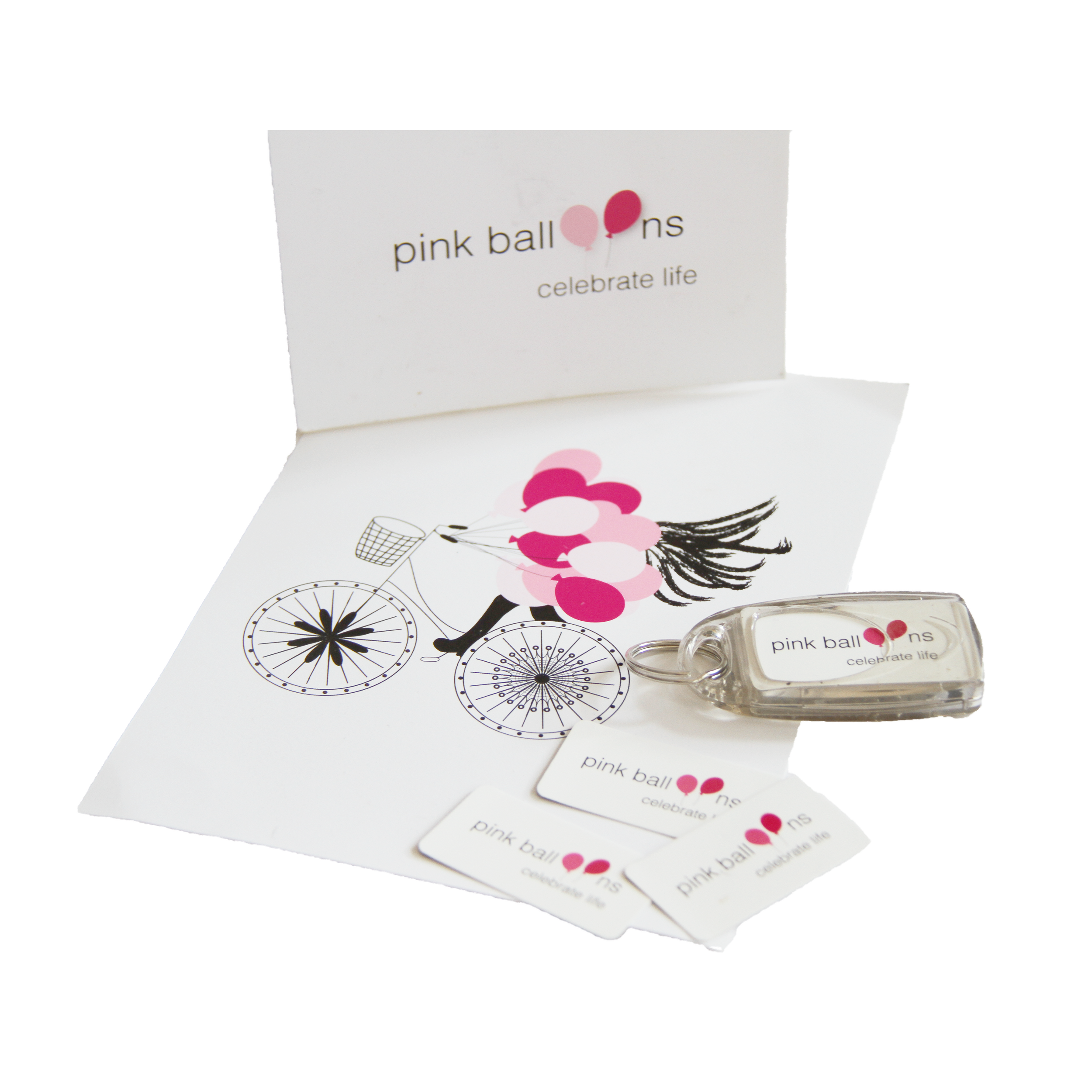 Pink Balloons business cards