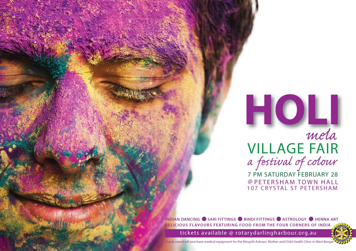 Rotary Holi Mela poster