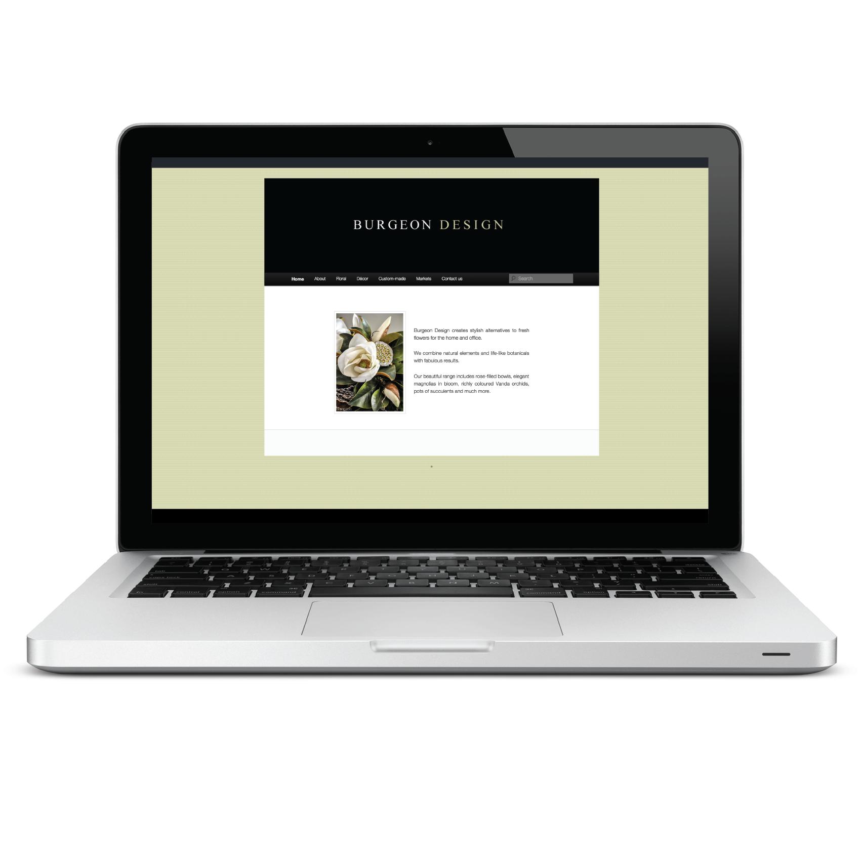 Burgeon Design web