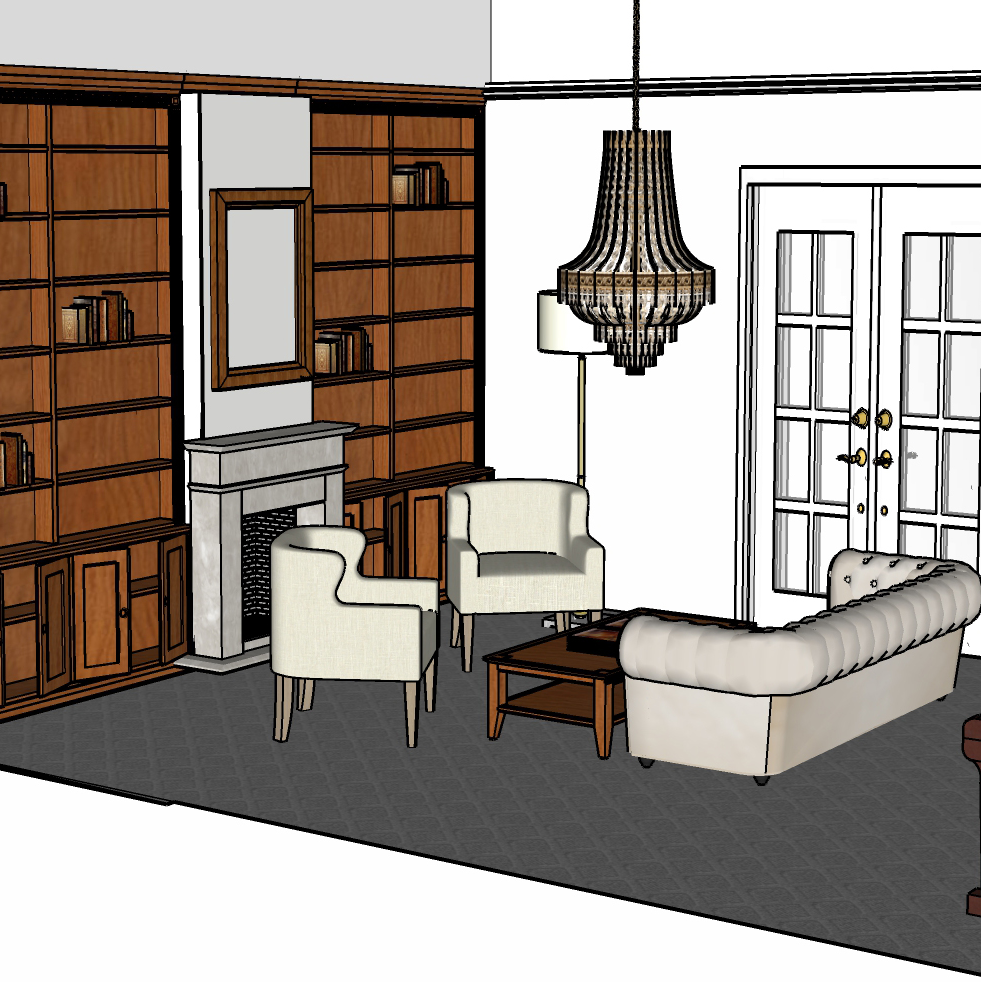 Lounge room space planning