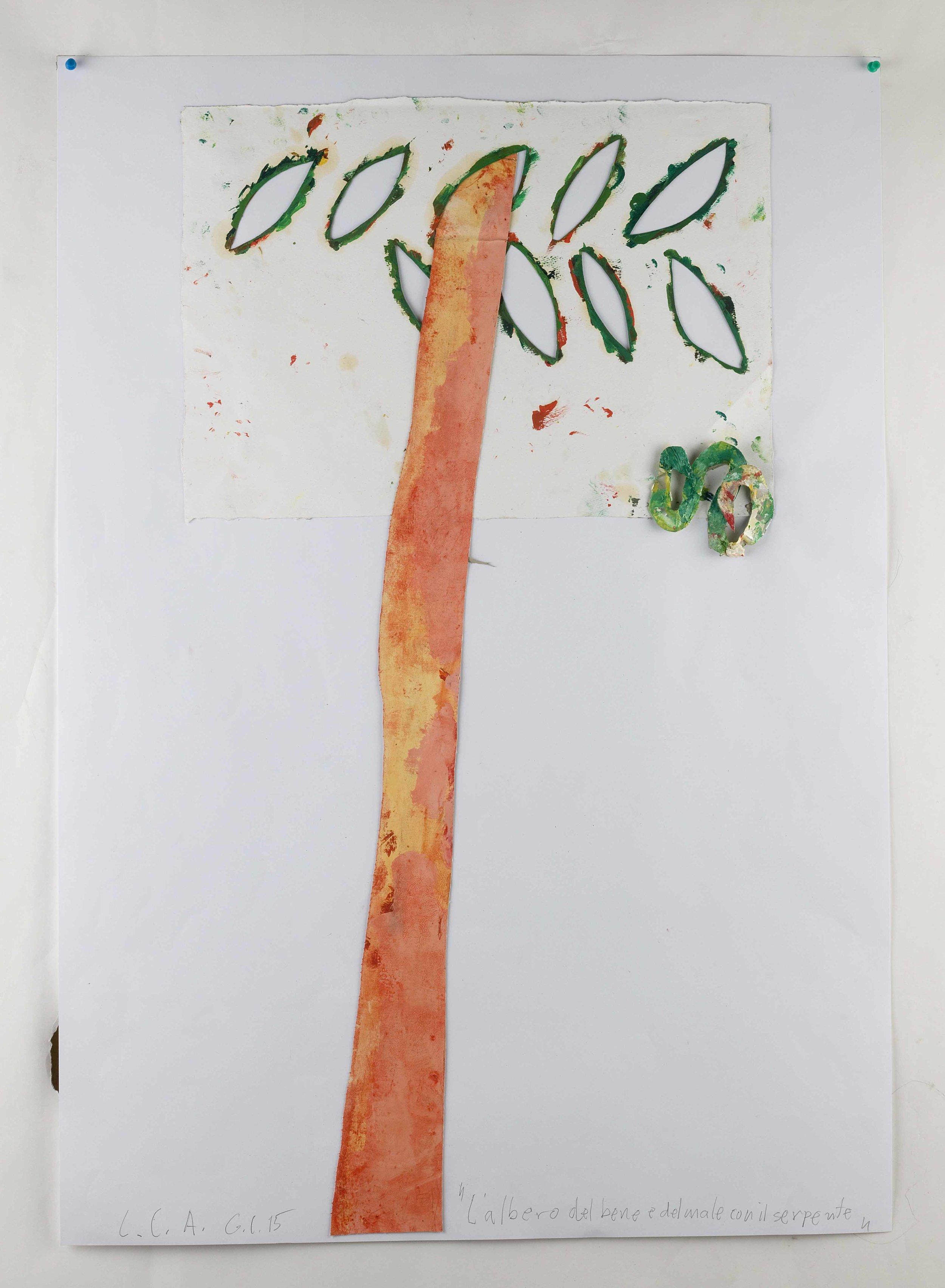 L'albero del bene e del male con il serpente