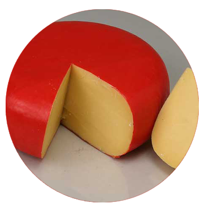 GOUDA. Available in several flavours.