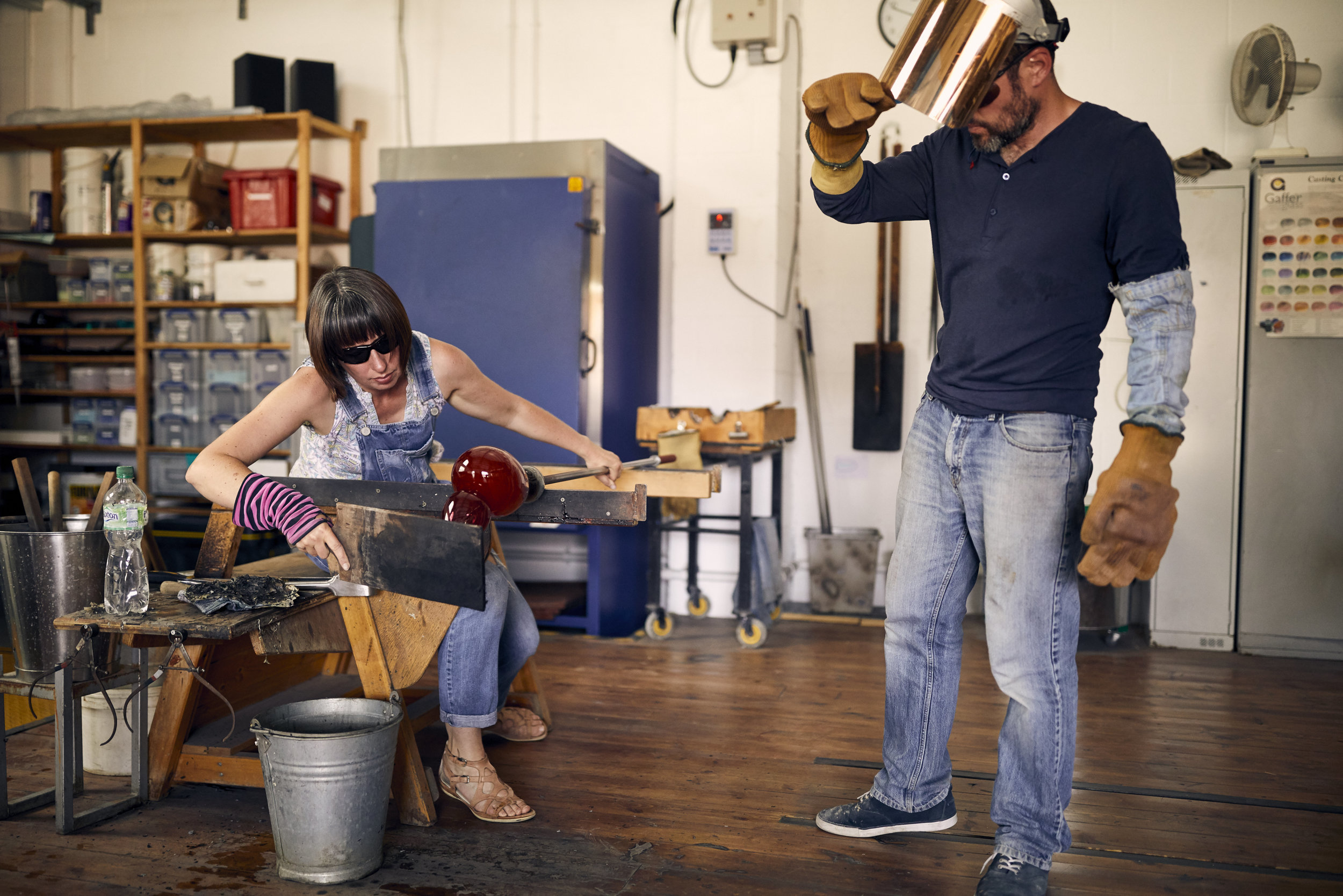 The Artisans - Blowing hot air: glass artists in Dorset - in pictures.