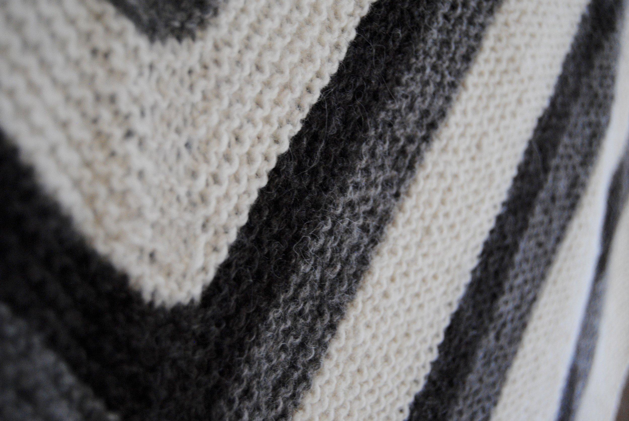Sue's hand knit shawl in Rockin' Stockins 100% Shetland 2-ply