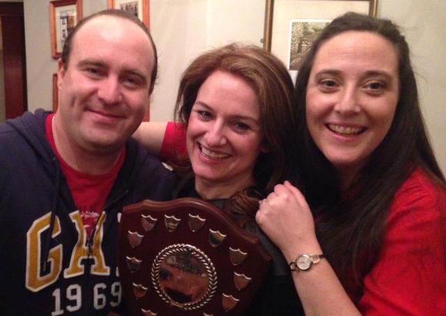 Winners:Nigel McGuinness ('Bar'), Fiona Keane (Director), and Grainne Troy ('Ger').