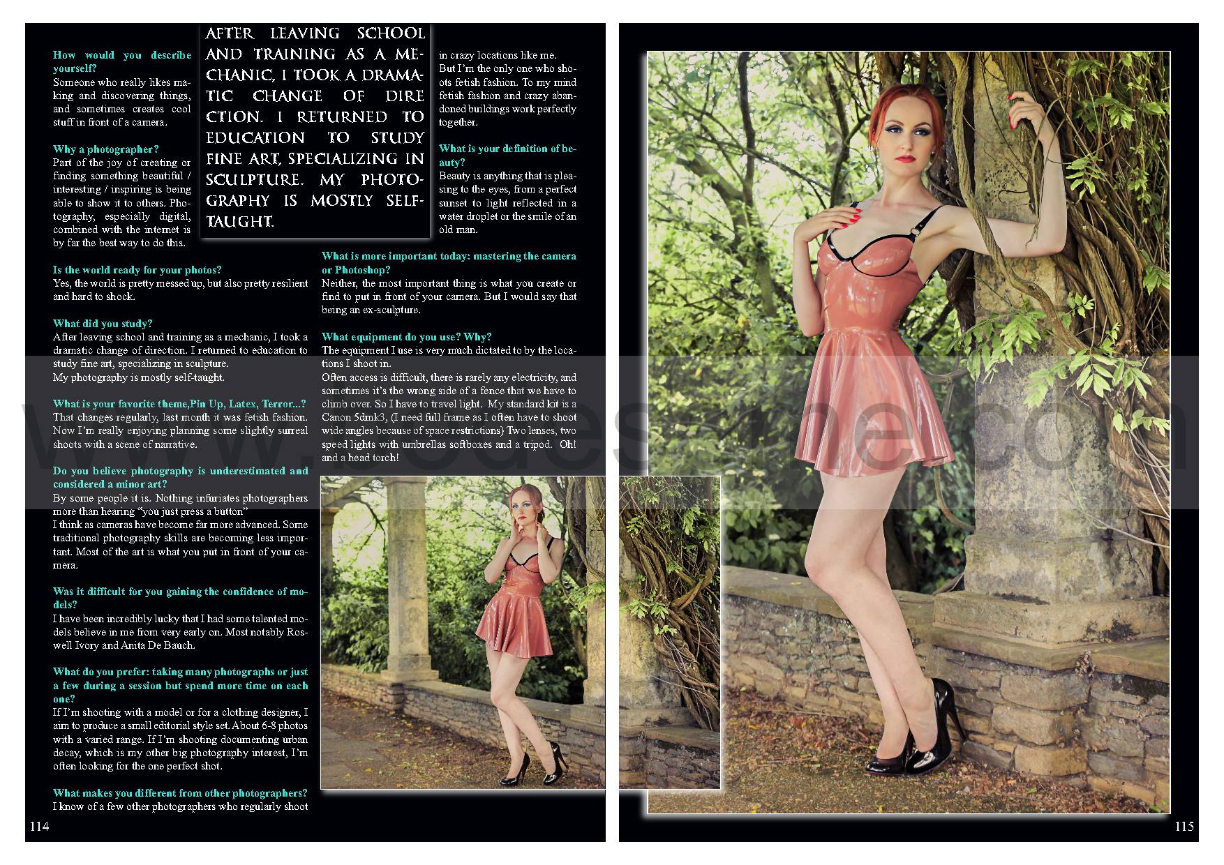Twelve page Feature Article In Bedsme magazine.