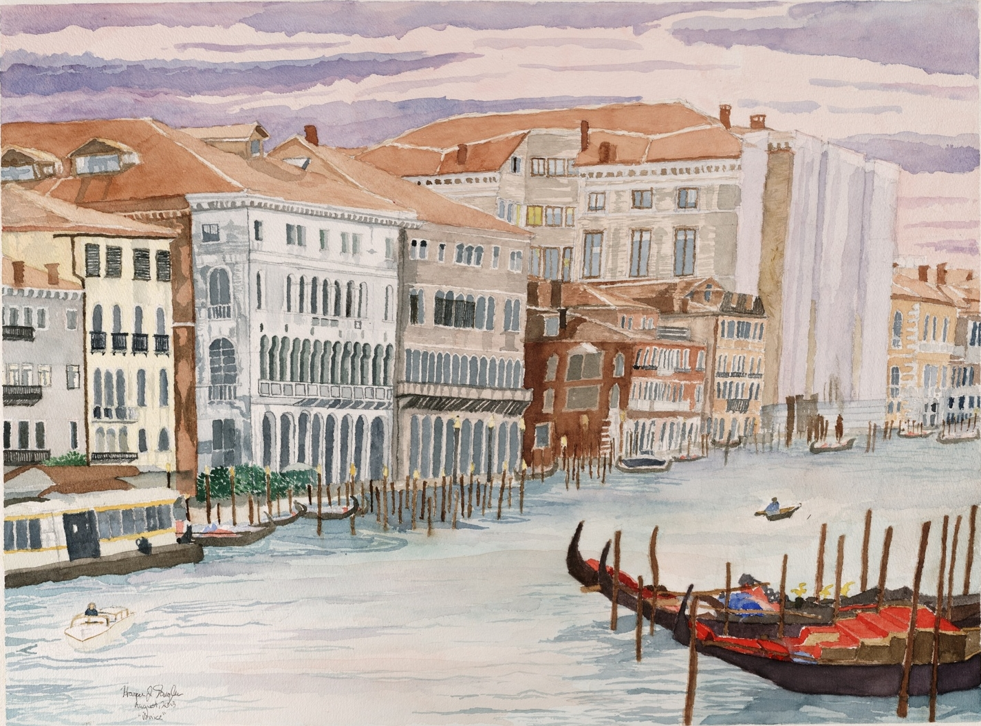 "Venice!, 22.5"" by 30"", watercolor on paper"