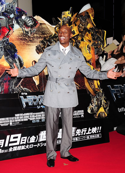 Tyrese at the Tokyo Premiere of Transformers