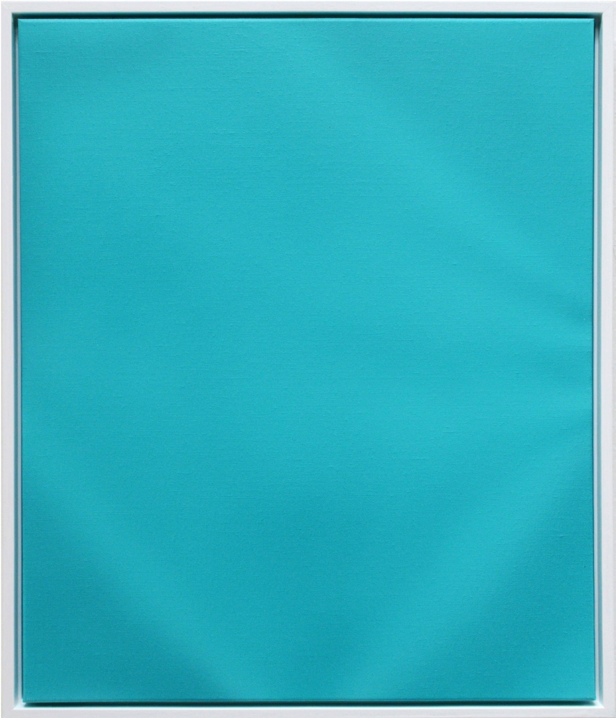 Ruffled Turquoise | 2015 acrylic on linen 60 x 50 cm