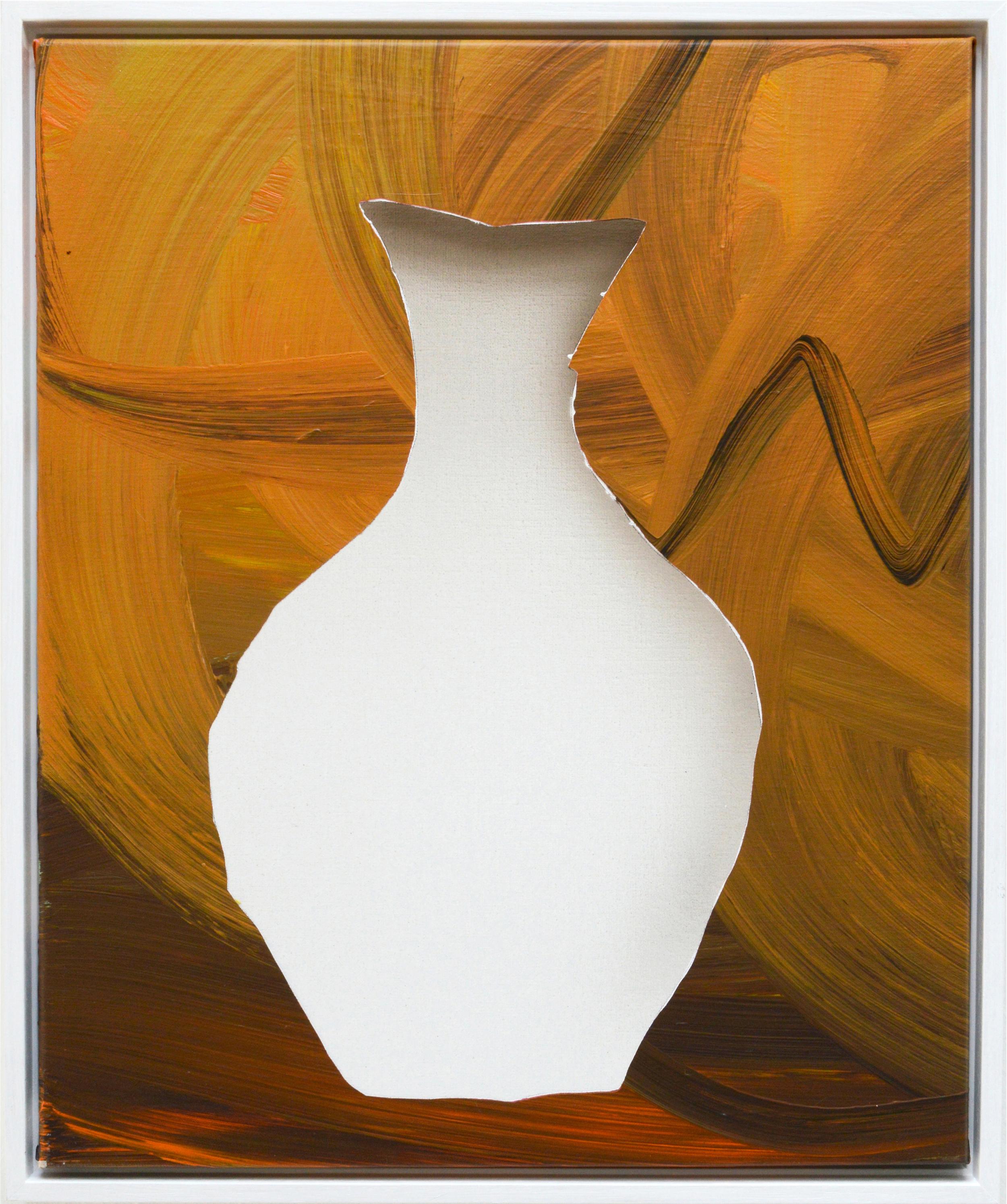 Vase Brown | 2015 acrylic on linen 55 x 45 cm