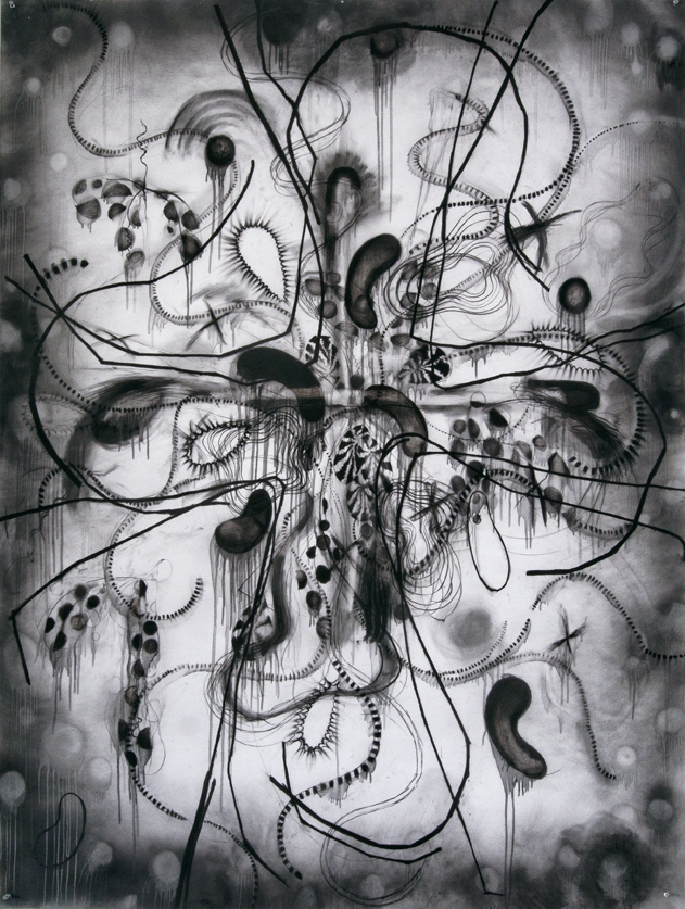 untitled | 2015 charcoal on paper 200 x 150 cm