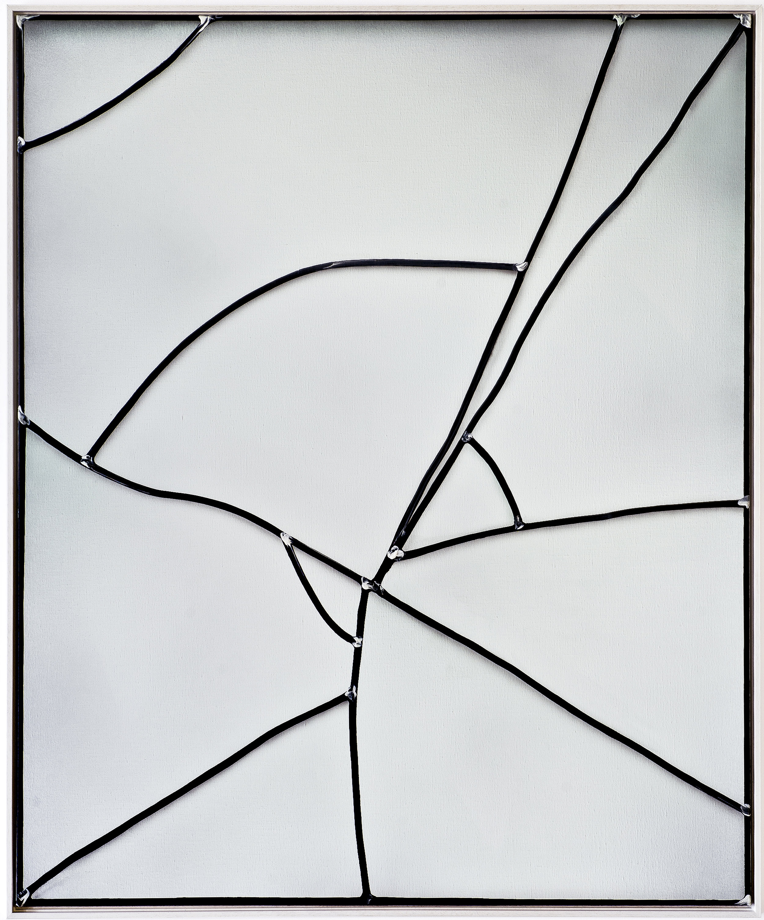 Stained | 2014 acrylic on linen 40 x 115 cm