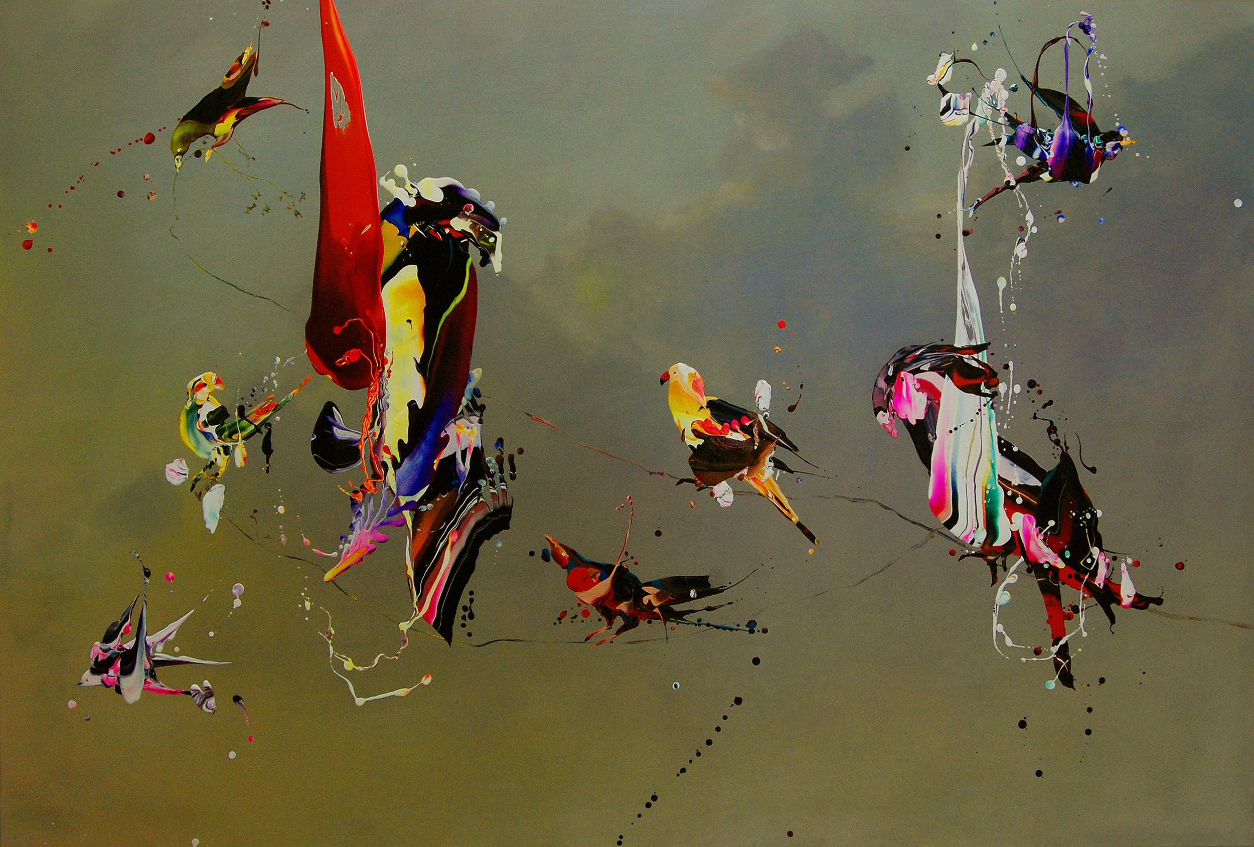 HM Bird's in concert L. 125 x 185 cm oil on linen.JPG