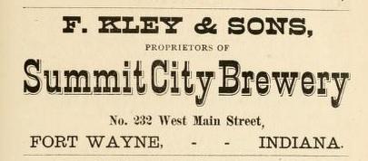 Summit City Brewery F. Kley & Son