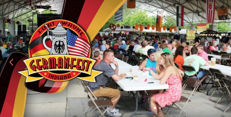 GermanFest 2016    Eat, Drink, and have a really good time June 8th – 12th    Das bier gute hier    Events will be held around Fort Wayne at a variety of locations.    June 8th – 11th Festival Pavilion & Bier Tent Hours:    Wednesday & Thursday 11am – Midnight    Friday & Saturday 11am – 1am    Admission:    2:00-5:00PM = $2.00; After 5:00PM = $5.00 Children Under 14 Admitted Free with Parent or Guardian All Military personnel with I.D. admitted Free of charge.    Event schedule  HERE