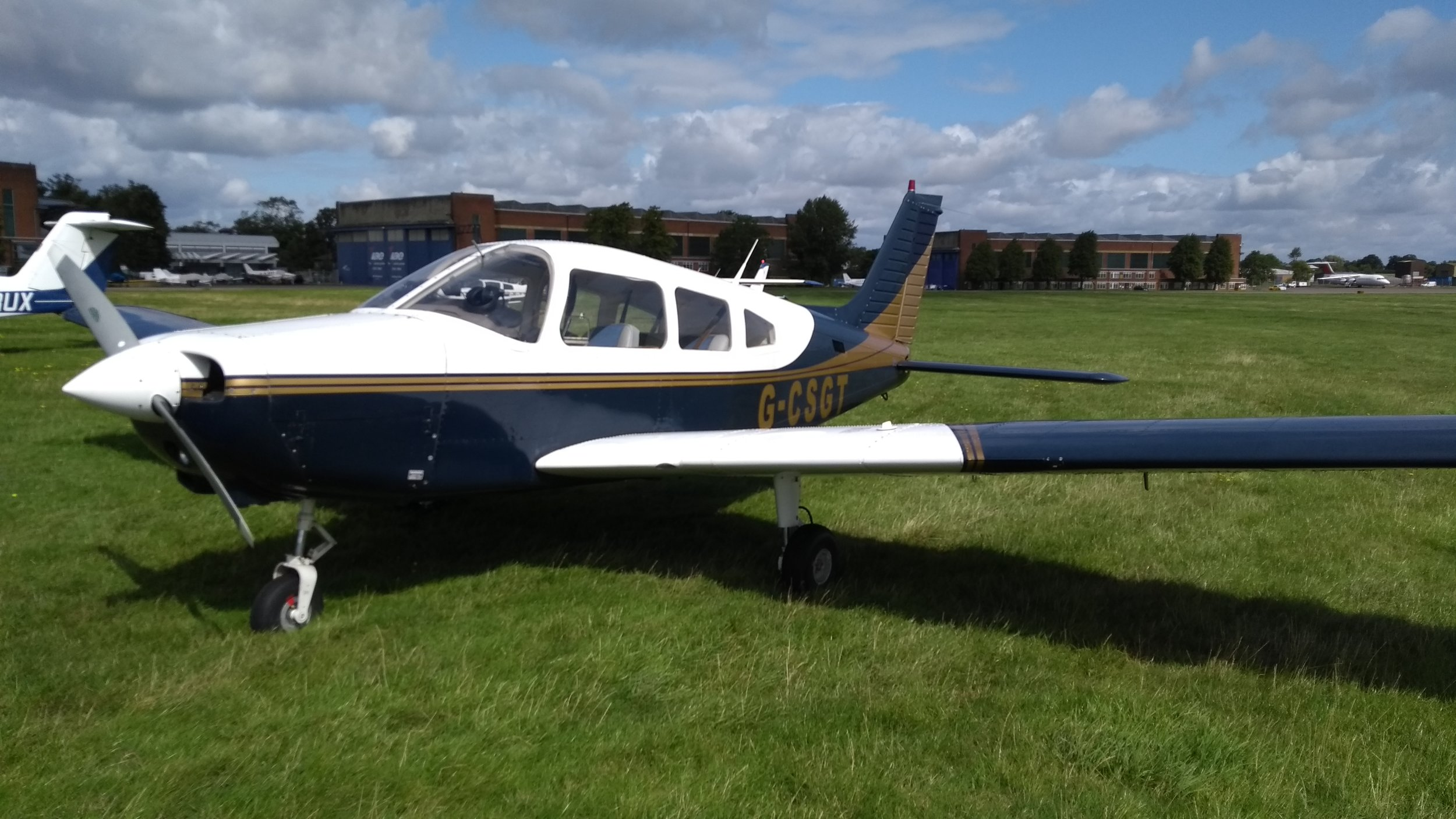 A Typical PA 28 Trainer for LAPL. It canc carry 4 people.