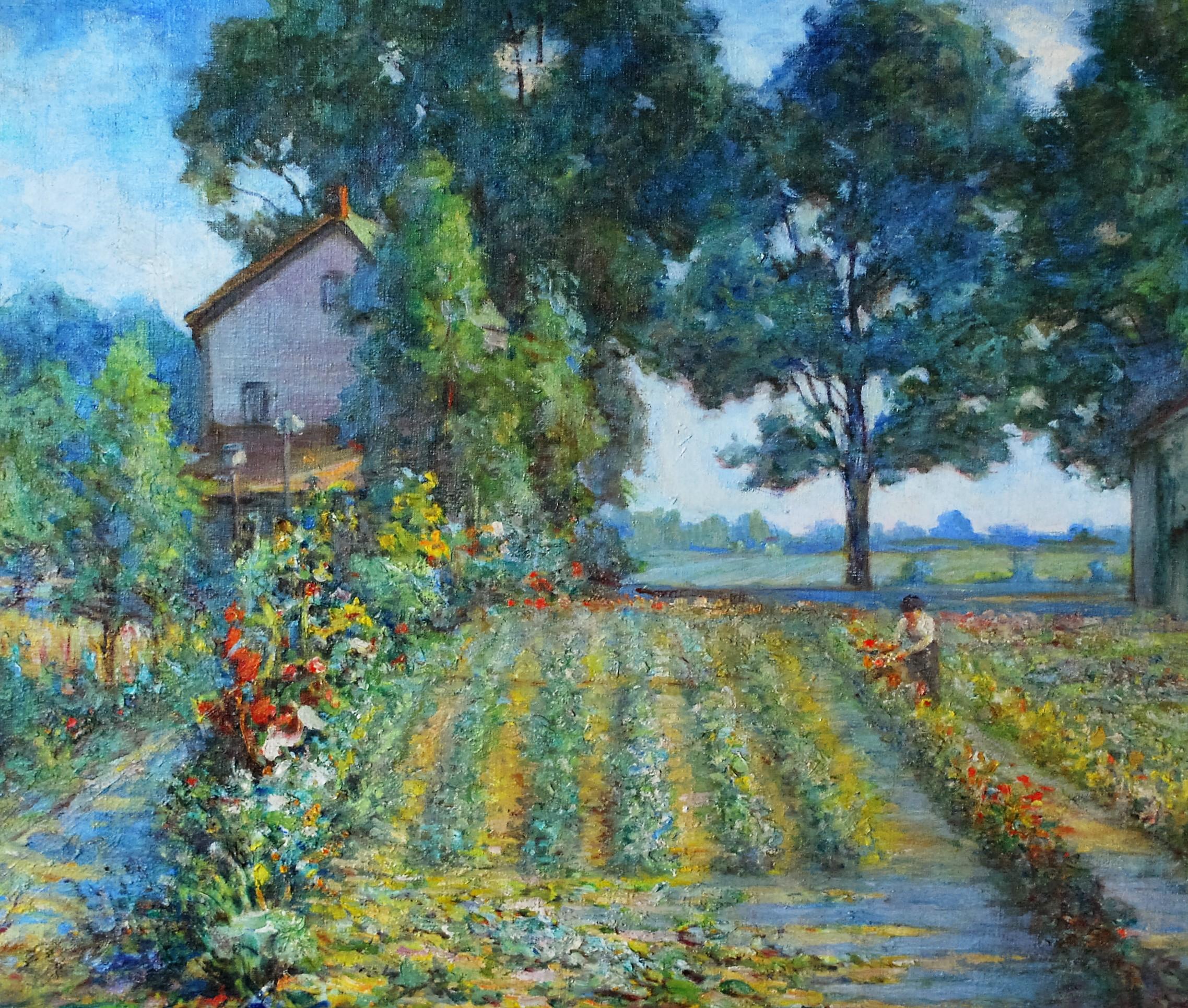 Kapes, Karl Kappes Garden, oil on canvas.JPG