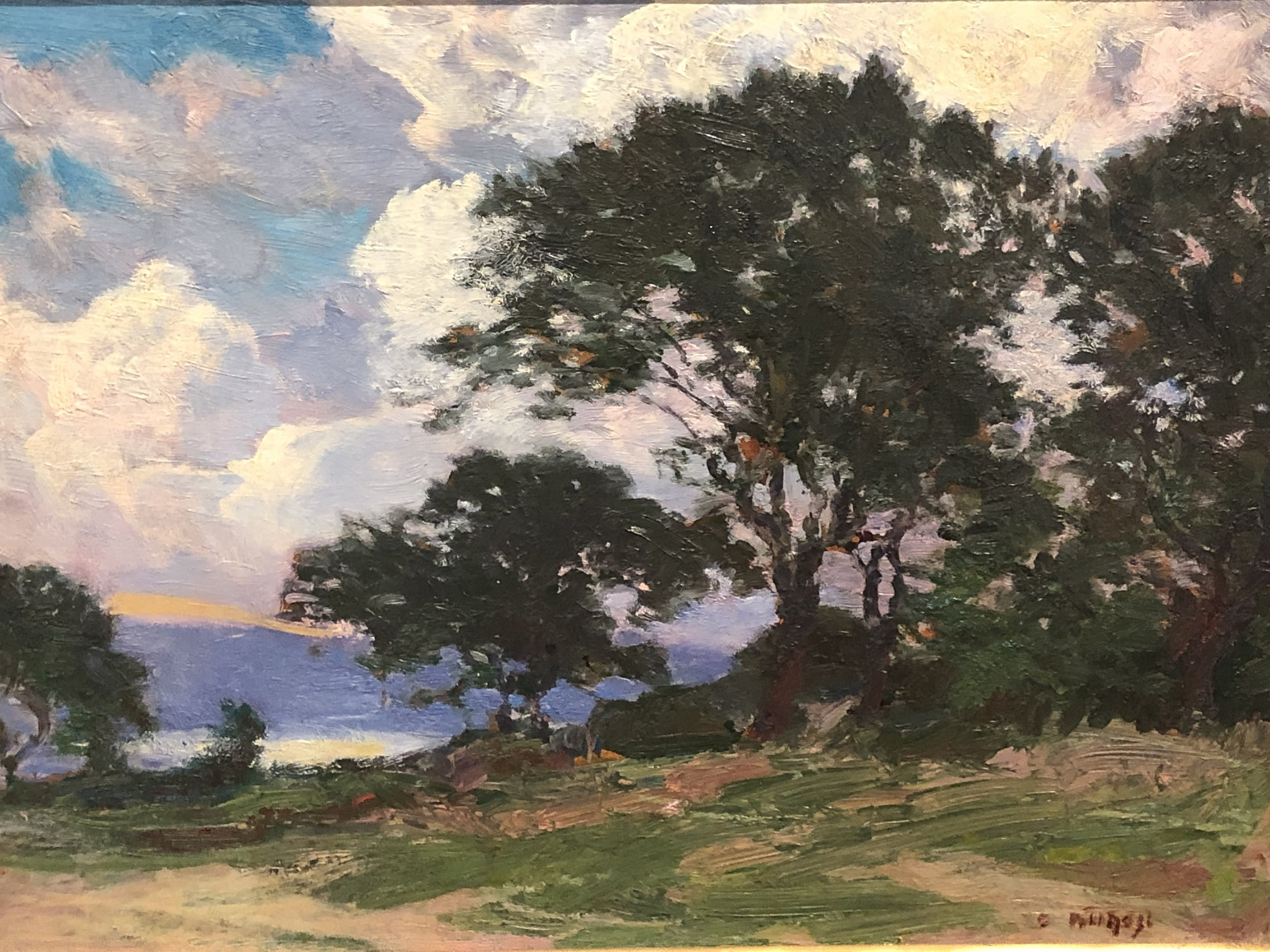 Edward Henry Potthast,  Landscape , n.d., oil on board. Image courtesy of the Cincinnati Art Galleries, DH545..