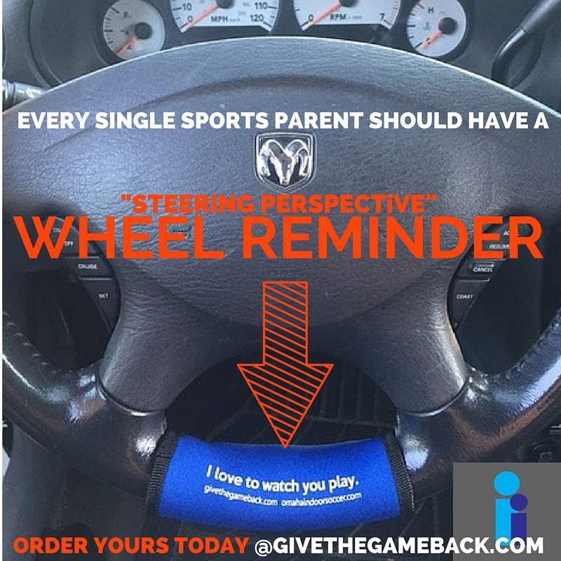 Fasten this visual reminder onto your steering wheel to help you stop and think about the kind of conversation you want to have with your child(ren) following a sporting competition.