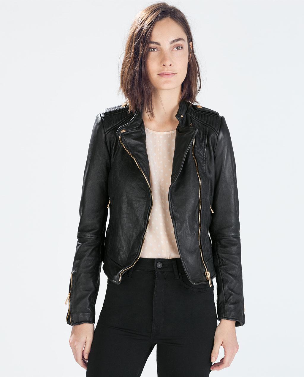 Zara  Leather Biker Jacket  ($279)