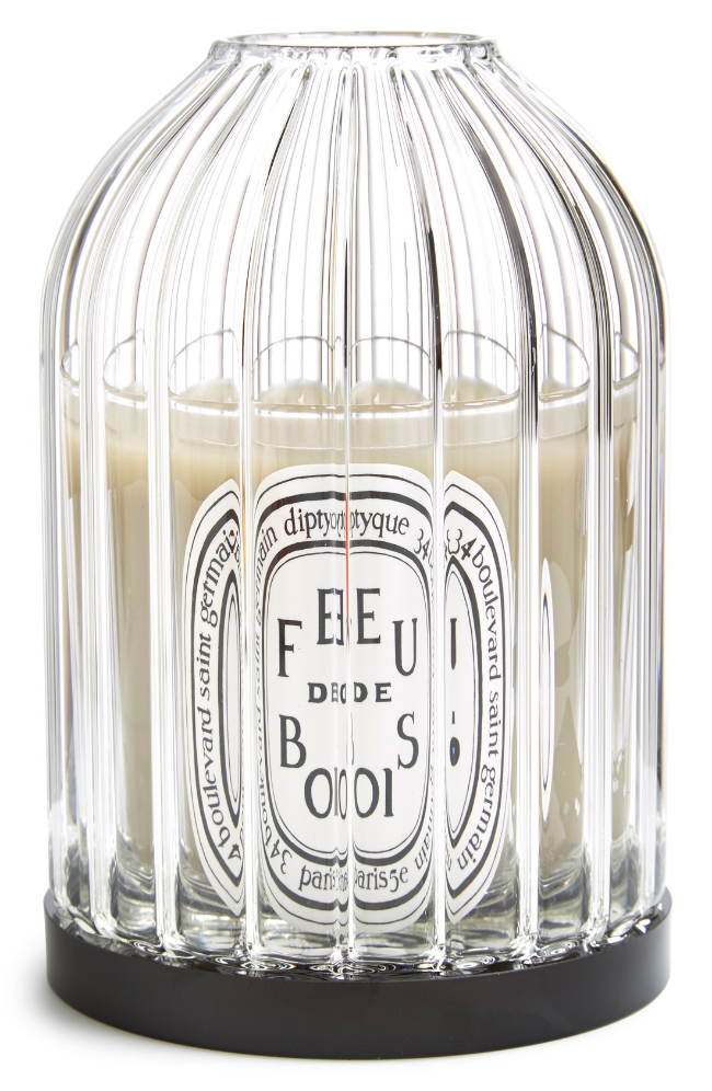 Diptqye 'Feu de Bois' Candle and Holder ($160) from  Nordstrom