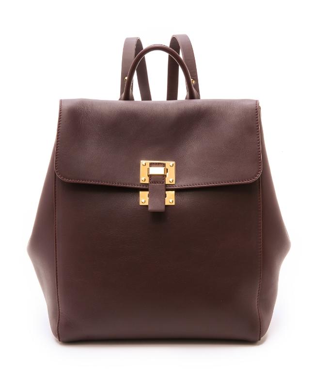 Sophie Hulme Soft Flap Rucksack ($865) from  Shopbop