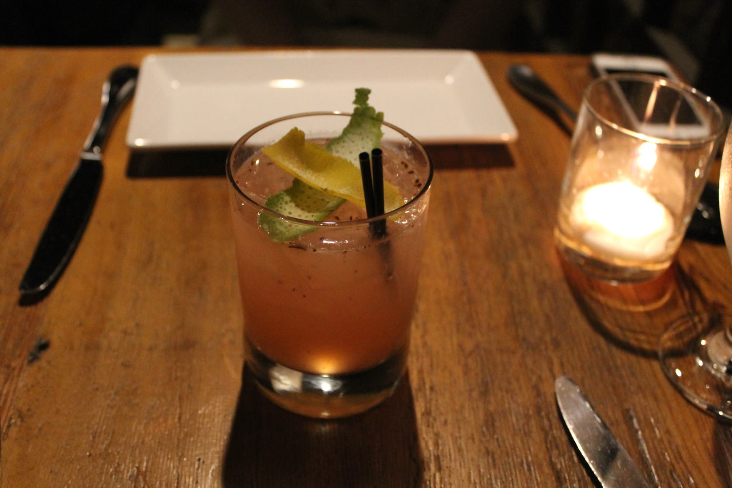 The Cee Tee: Gin, Grapefruit, and Star Anise. I would have loved this drink if I liked star anise (usually made with tarragon).