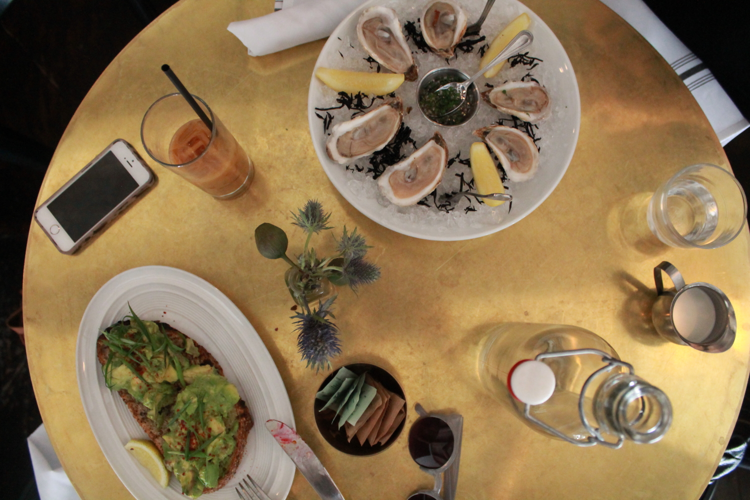 Avocado Toast and Oysters