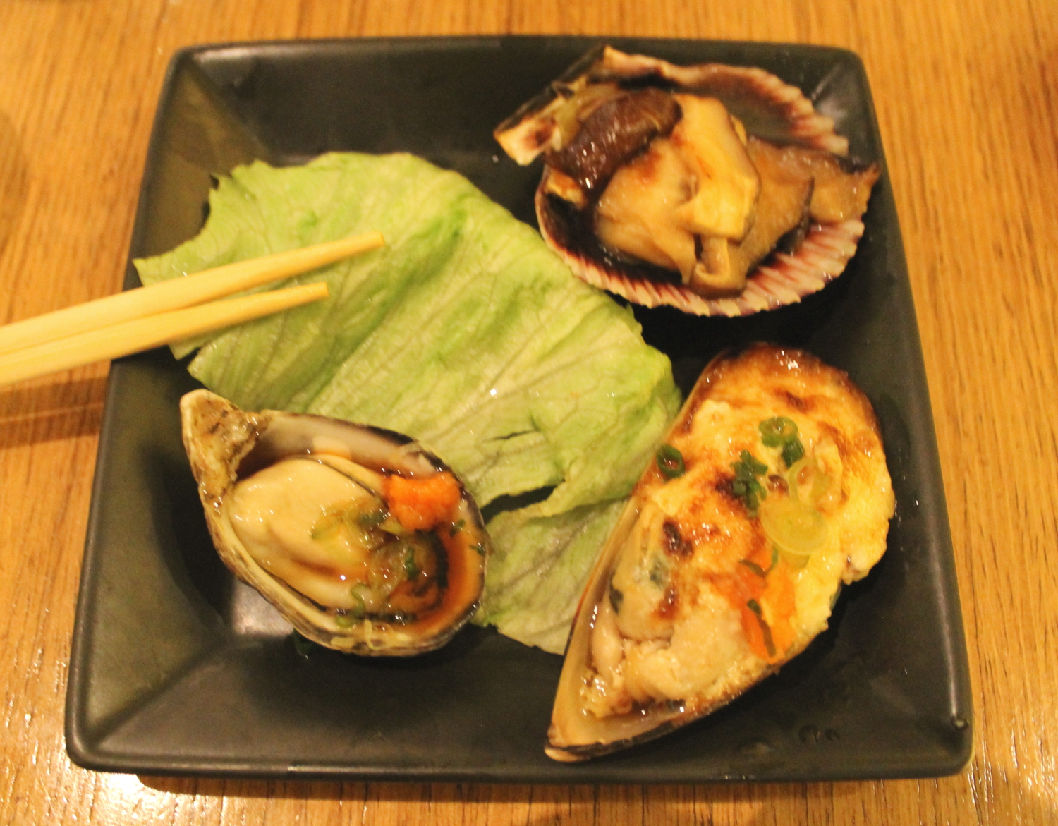 Mussels and Oyster Trio