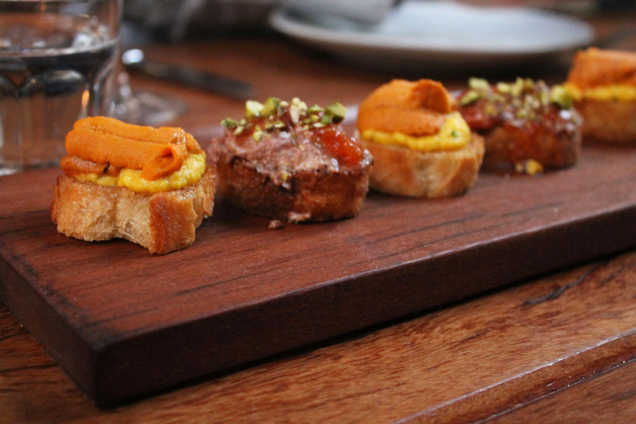 Selection of toasts