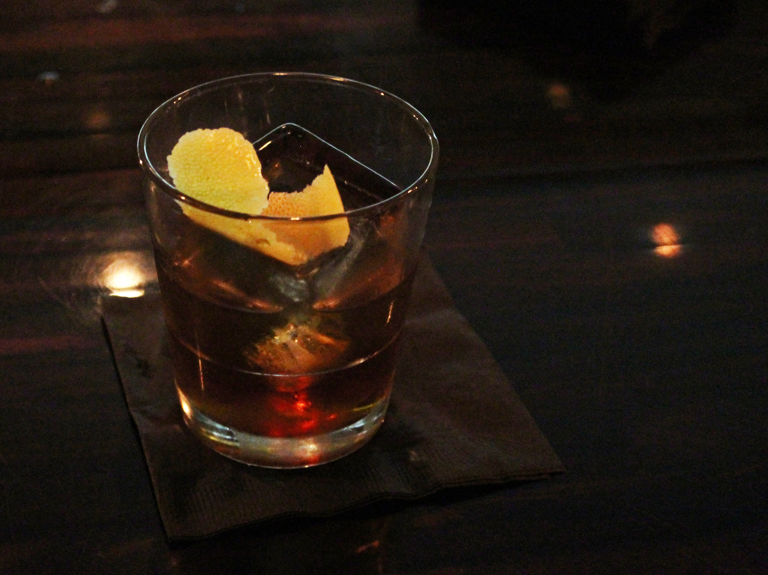 Eliot Ness-essity :Bourbon, fernet vittone, dry vermouth, yuzu bitters