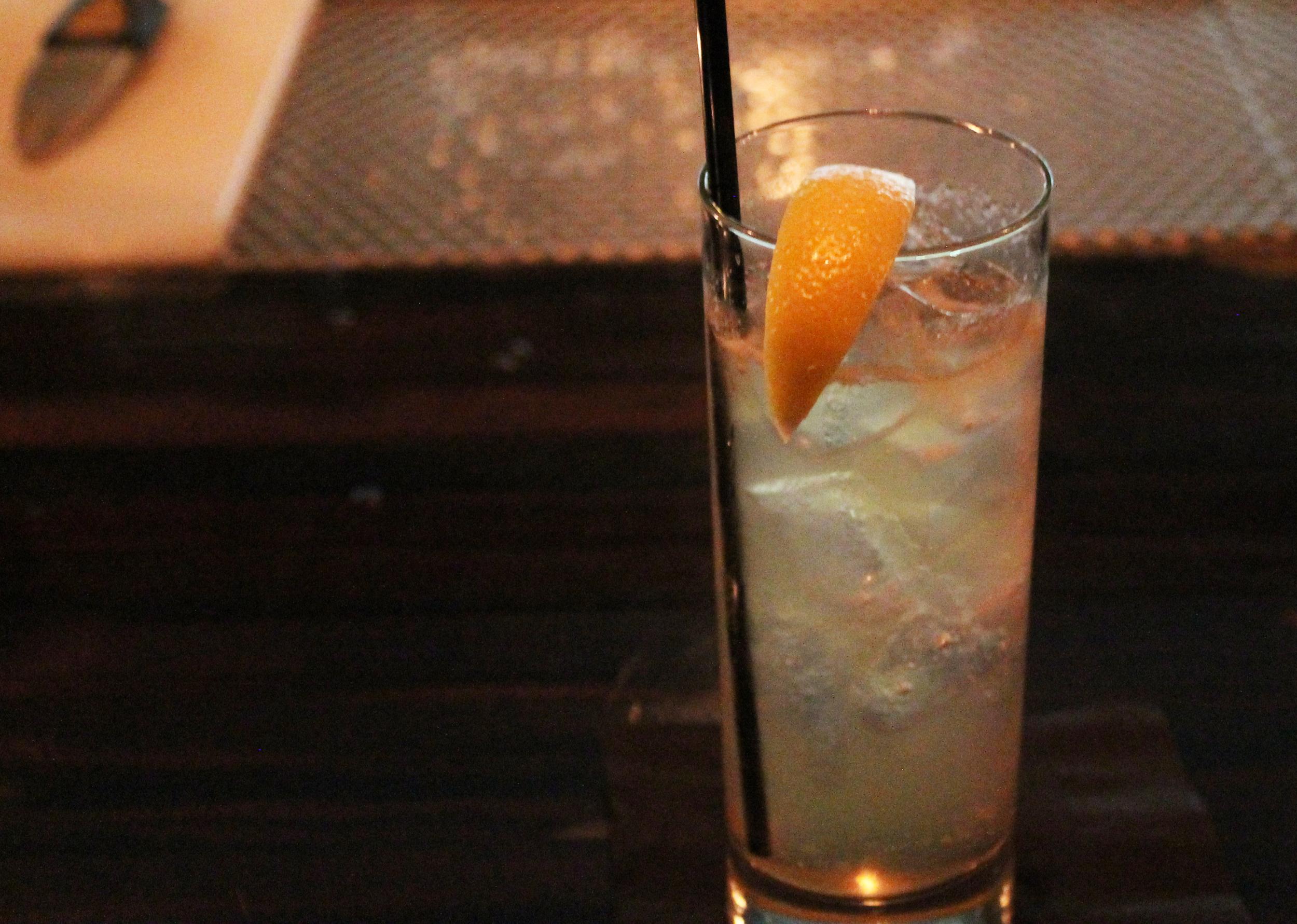 Mob Rule :Vodka, creme de pech, lemon, pear cider