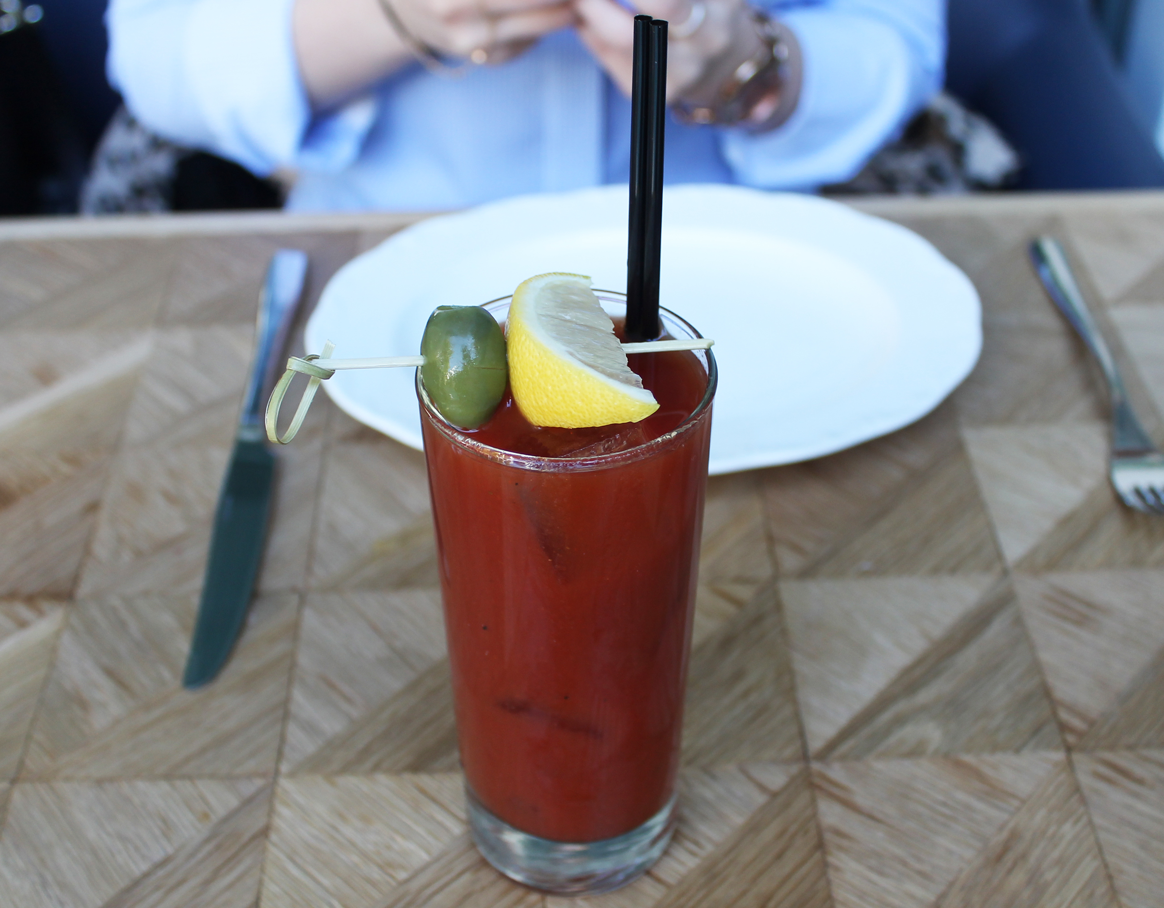 BLOODY MARY :St. George Green Chili Vodka, Tomato, Spices