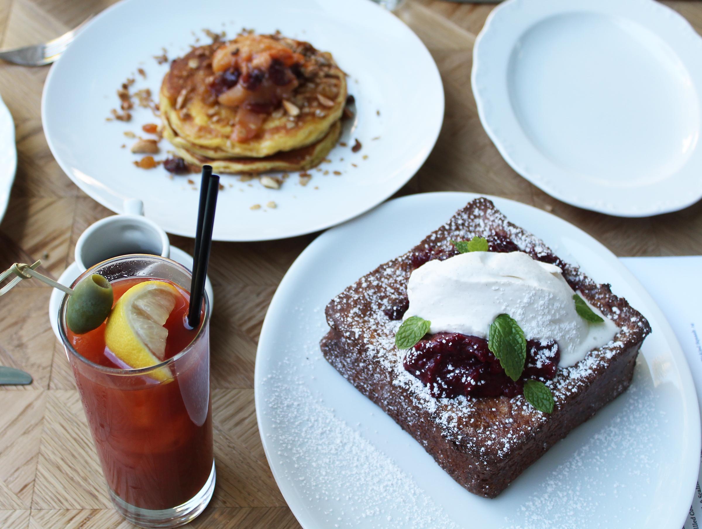 BRIOCHE FRENCH TOAST: Chocolate Ganache Filling, Fruit Compote